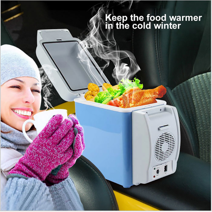 HUANJIE 12V 7.5L Capacity Portable Car Refrigerator Cooler Warmer Truck Electric Fridge for Travel RV Boat