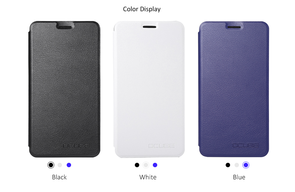 OCUBE PU Leather Full Body Phone Protective Case Foldable Stand for DOOGEE Y6