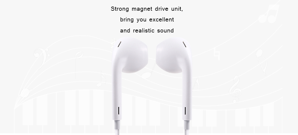 HOCO M1 3.5mm Plug In-ear Earphones Stereo Earbuds Volume Control