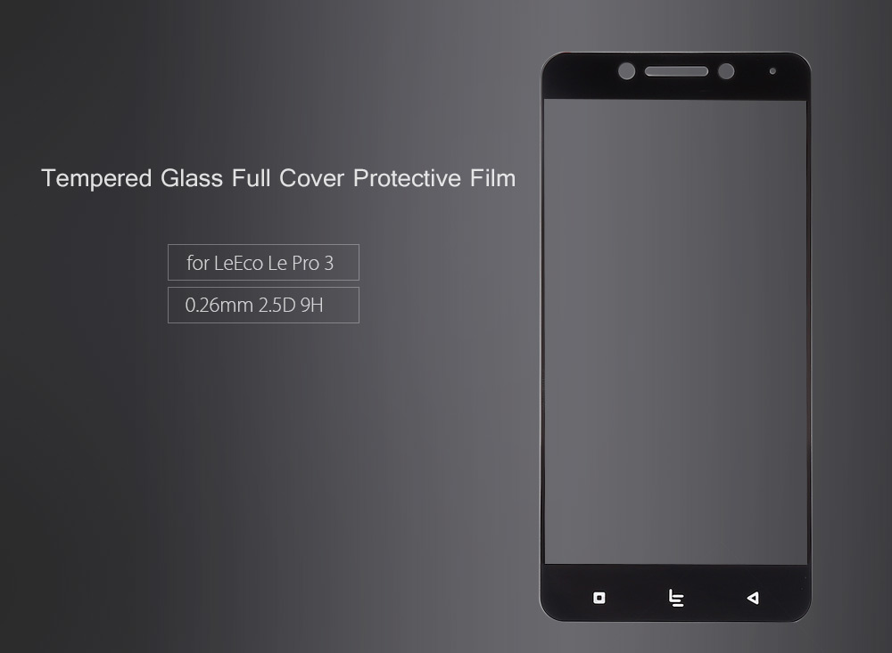 ASLING Tempered Glass Full Cover Screen Film for LeEco Le Pro 3 0.26mm 2.5D 9H Explosion-proof Protector