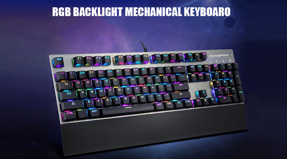 Motospeed CK108 USB Wired Gaming Keyboard with 18 Backlight Mode for Desktop