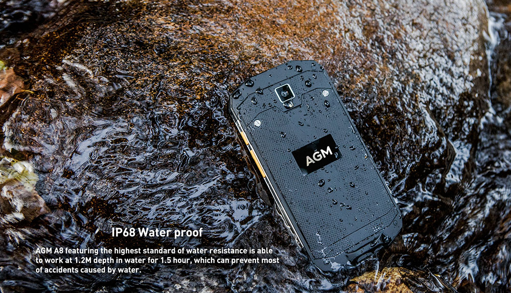 AGM A8 4G Smartphone Android 7.0 5.0 inch MSM8916 Quad Core 1.2GHz 4GB RAM 64GB ROM 13.0MP Rear Camera IP68 Waterproof 4050mAh Battery