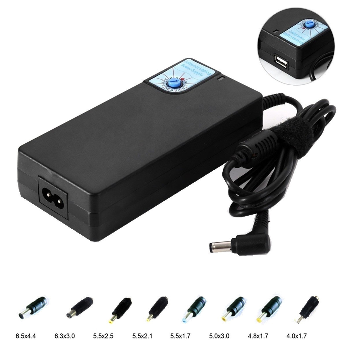 SP26 Universal Laptop Power Supply Adjustable Voltage with USB interface