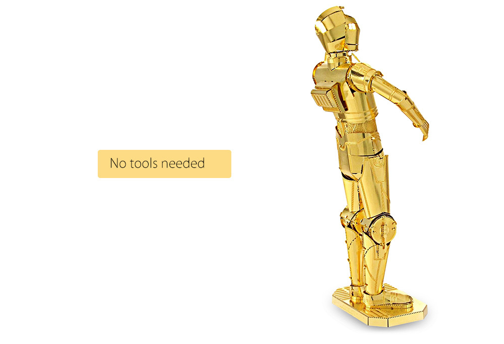 ZOYO Robot Style 3D Metallic Building Puzzle Educational Assembling Toy