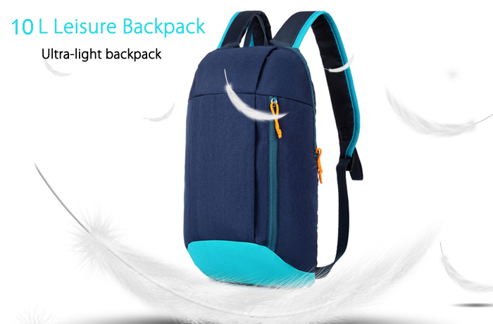 Water-resistant Nylon 10L Travel Ultra-light Leisure Backpack