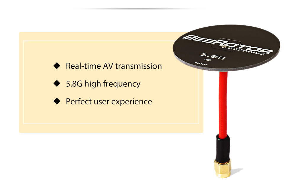BEEROTOR 5.8GHz 5dBi Flat Panel Antenna for Racing Drone