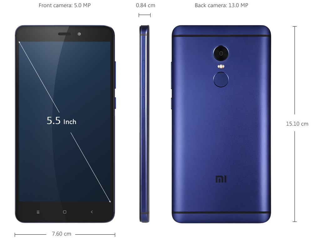 Xiaomi Dévoile Son Redmi Note 4: Xiaomi Redmi Note 4 4G Phablet-253.79 Online Shopping