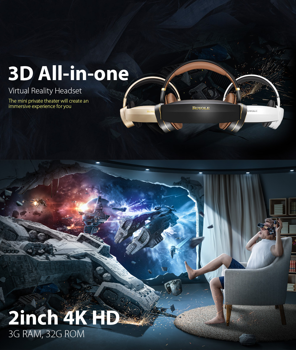4K HD 3D Bluetooth All-in-one VR Headset