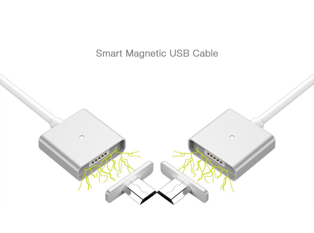 Prompt Magnetic Micro USB Charging and Data Sync Cable Detachable - 1m