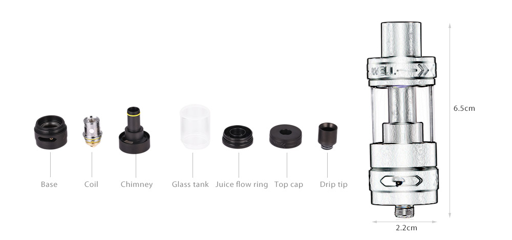 Original UWELL MYUWELL 5ml Tank Atomizer with 0.25 ohm / Bottom Adjustable Airflow for E Cigarette