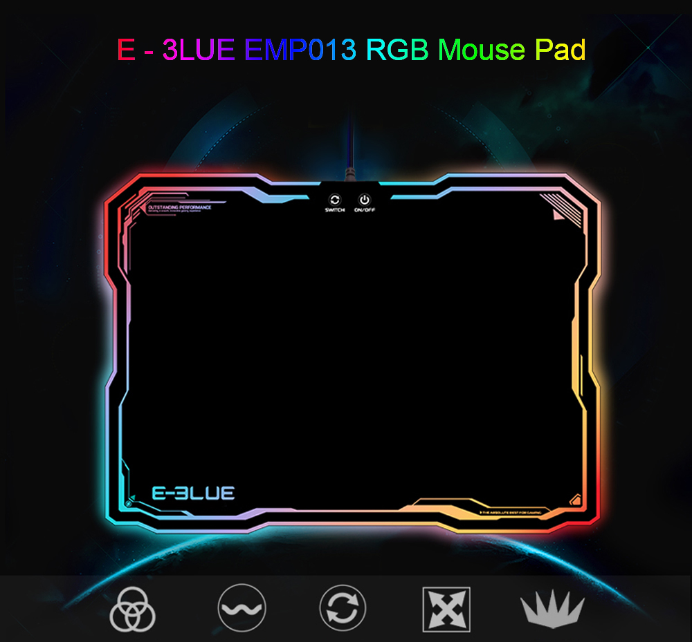 E - 3LUE EMP013 Mouse Pad with RGB Lighting