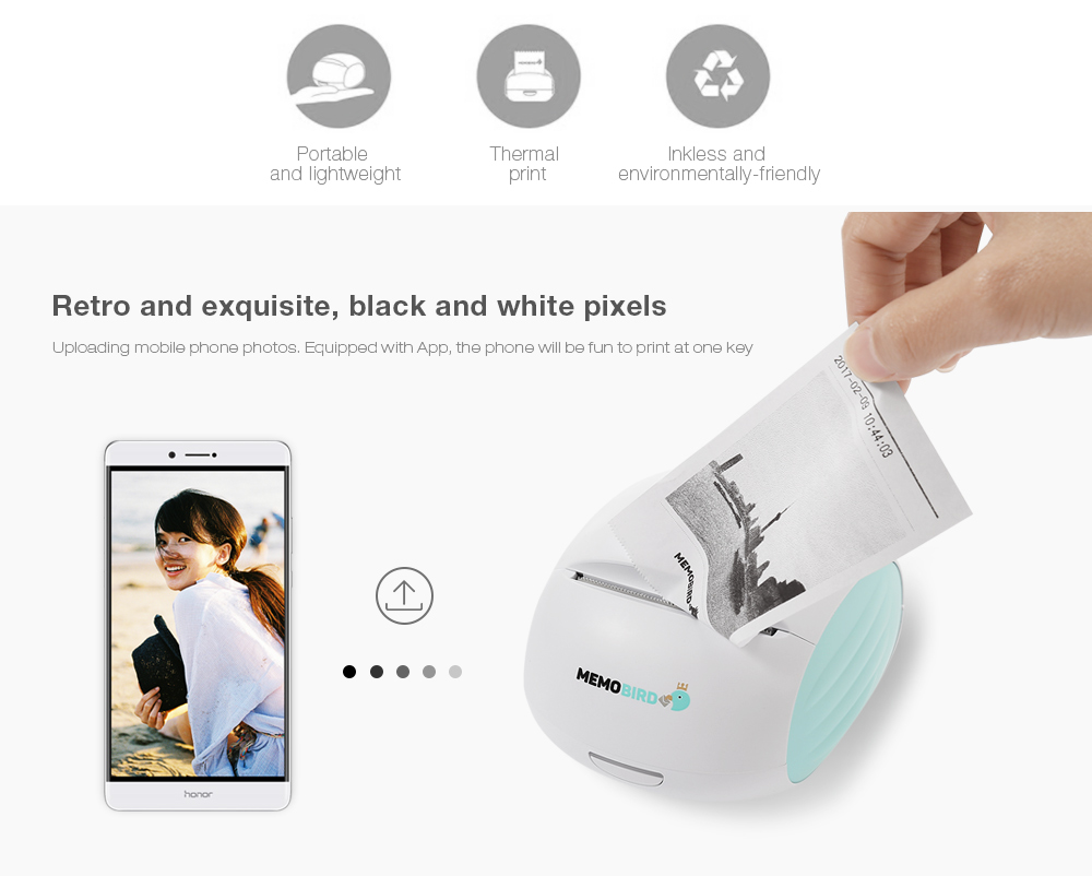 MEMOBIRD G2 Cute Picture Label Pocket WiFi Printer