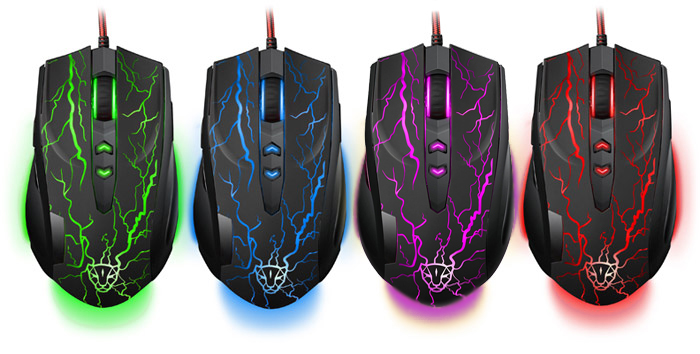 Motospeed V5 High Precision 7 Buttons User-defined Wired Optical Gaming Mouse Built-in LED Light Support Windows 7 XP 2000 Vista Mac