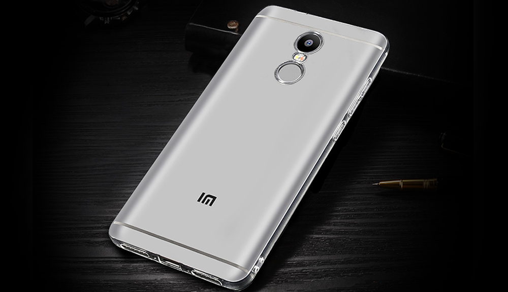Luanke Transparent TPU Soft Case Protective Cover Phone Protector for Xiaomi Redmi Note 4X