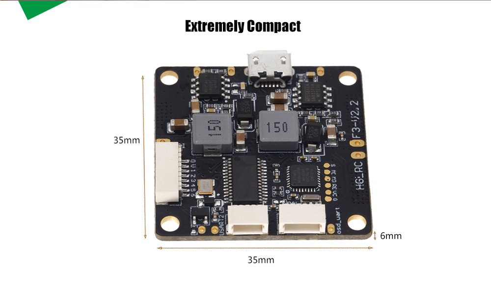 SP Racing F3 V2.2 Flight Control Board Integrated OSD / 12V 5V BEC / Compatible with 2 - 6S LiPo
