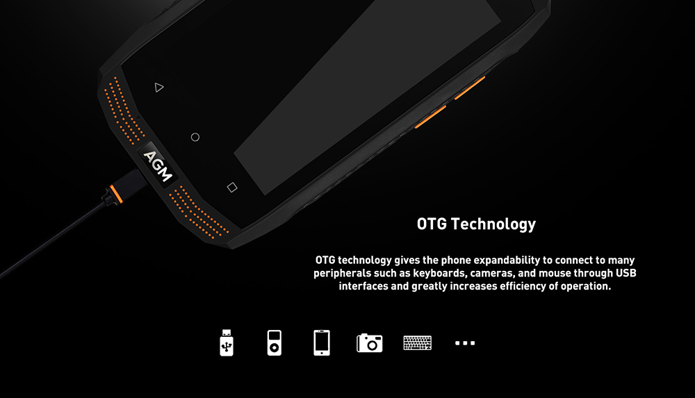 AGM A2 Rio 4G Smartphone 4.0 inch Android 5.1 MSM8909 Quad Core 1.1GHz 2GB RAM 16GB ROM IP68 Waterproof OTG Function 2600mAh Battery