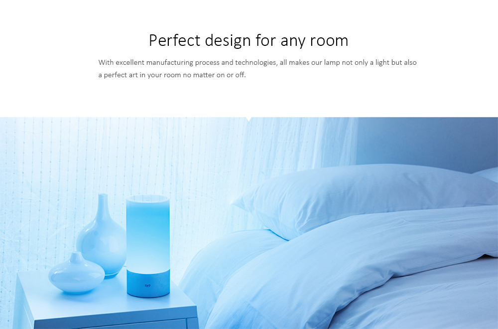 Xiaomi Yeelight Bedside Lamp Night Light OSRAM LED RGBW Touch Control CCT Brightness