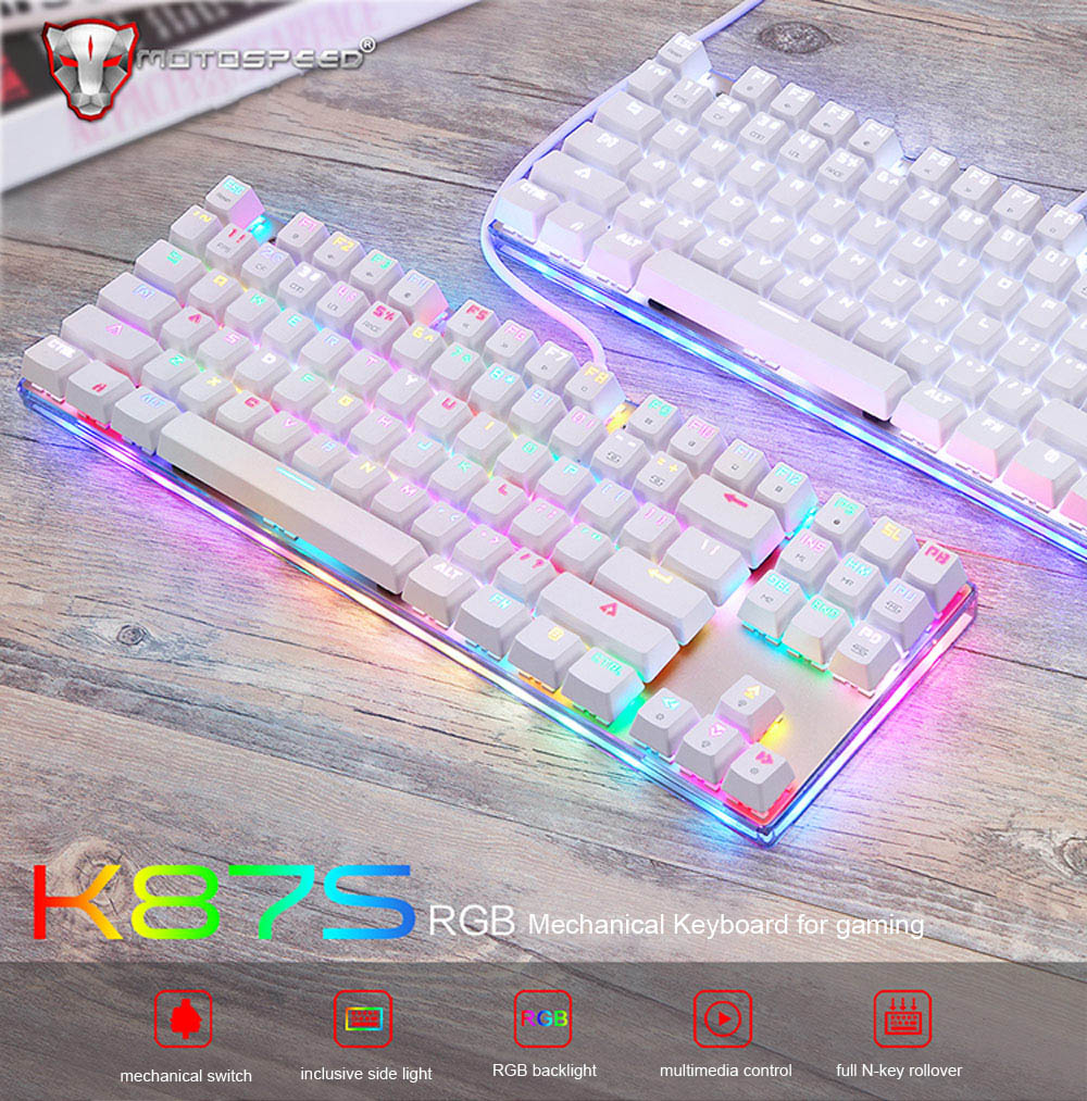 Motospeed K87S Mechanical Keyboard with RGB Backlight