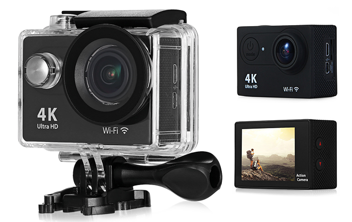 H9 Ultra HD 4K WiFi 2 inch LCD Screen 170 Degree Wide Angle Sports Action Camera