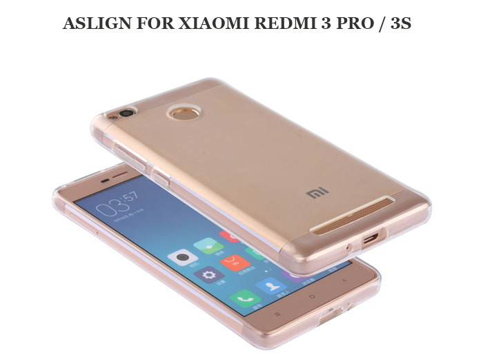 ASLING Transparent TPU Soft Case for Xiaomi Redmi 3 Pro / 3S Ultra Thin Phone Protector