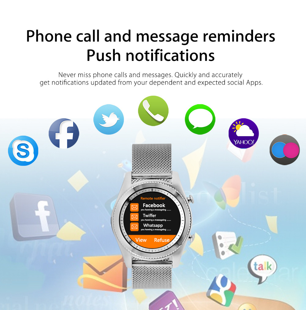 NO.1 S9 Bluetooth Smartwatch Heart Rate Monitor Activity Tracker