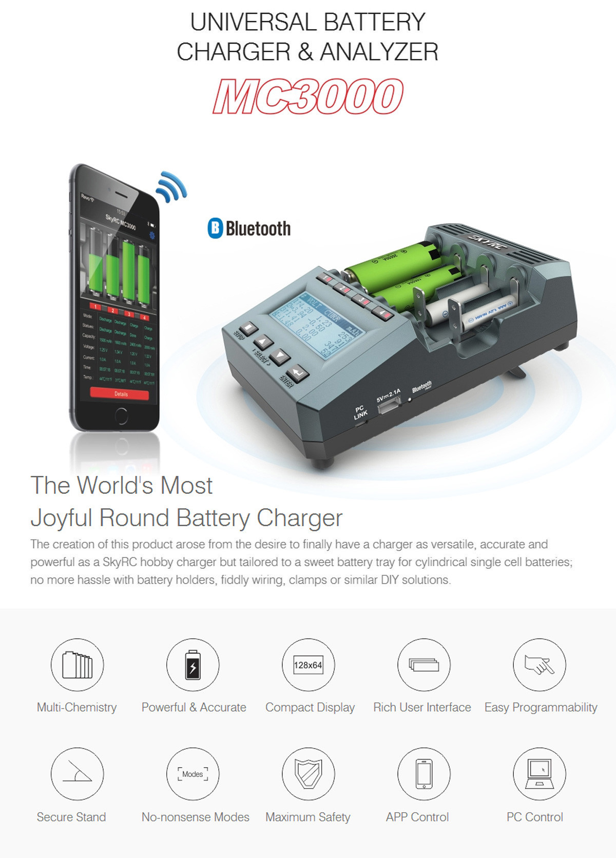 SKYRC MC3000 Bluetooth Smart Battery Charger