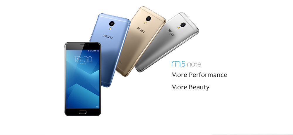 MEIZU M5 Note 4G Phablet 5.5 inch 2.5D Screen Android 6.0 Helio P10 Octa Core 1.8GHz 5.0MP + 13.0MP Cameras Fingerprint Scanner 4000mAh Battery Dual Brand WiFi Hall Sensor
