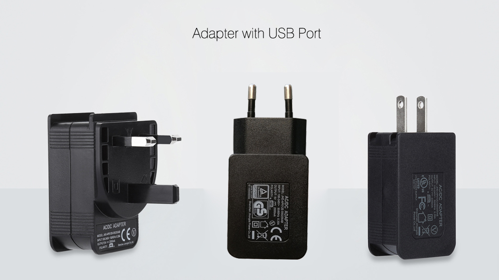 Power Adapter Supporting  USB Port