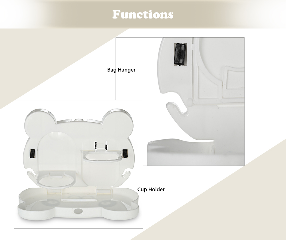 Multifunctional Cartoon Car Tray Table Cup Holder
