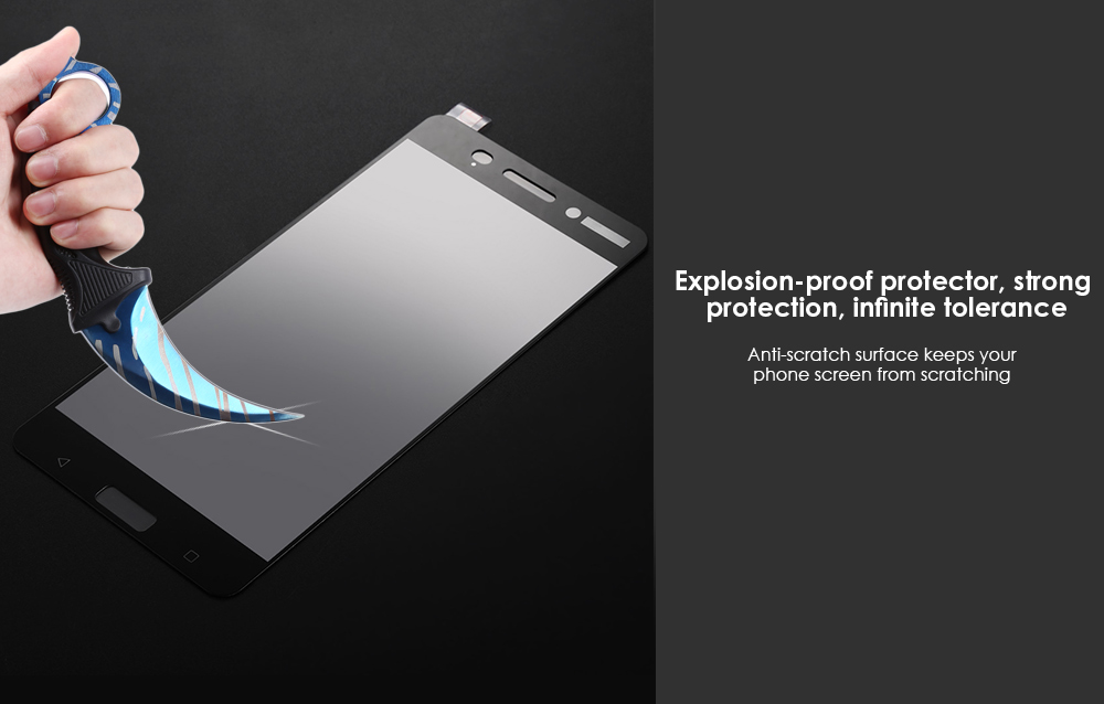 Tempered Glass Full Cover Screen Film for Nokia 6 Ultra-thin Explosion-proof Protector