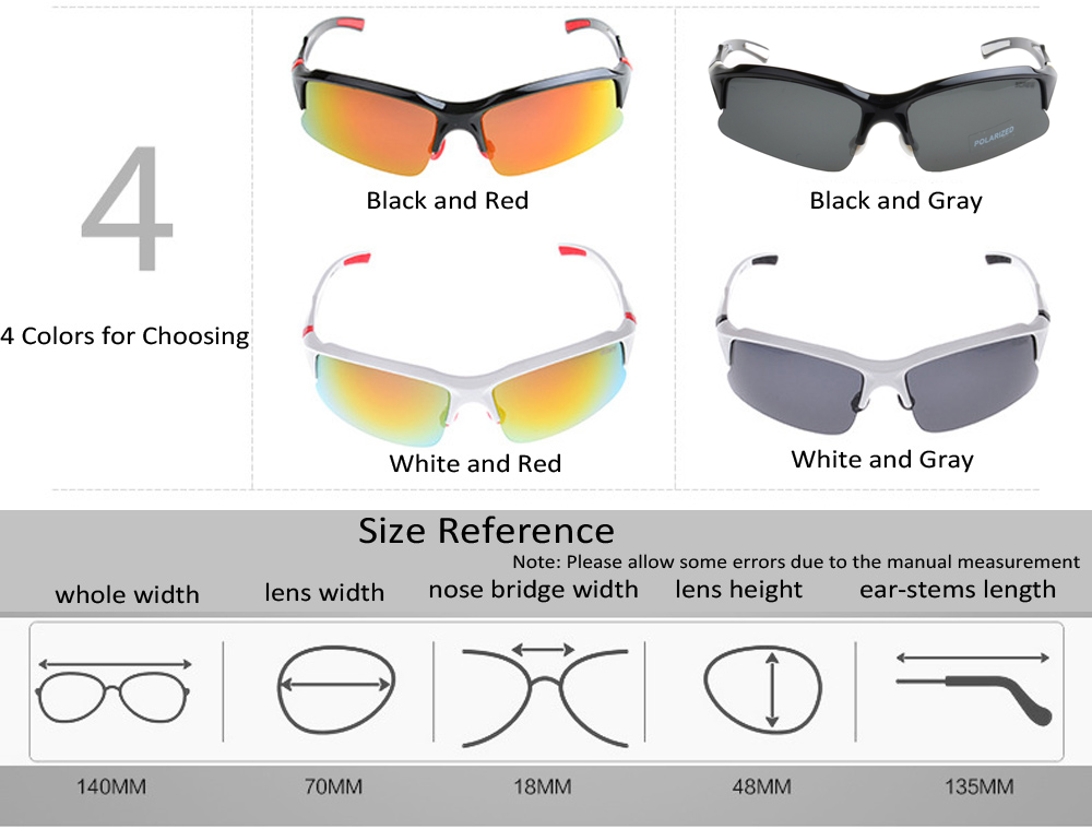 SCREW 9001 Unisex TAC Polarized Lens Anti-UV Sunglasses Goggles for Cycling Fishing Driving