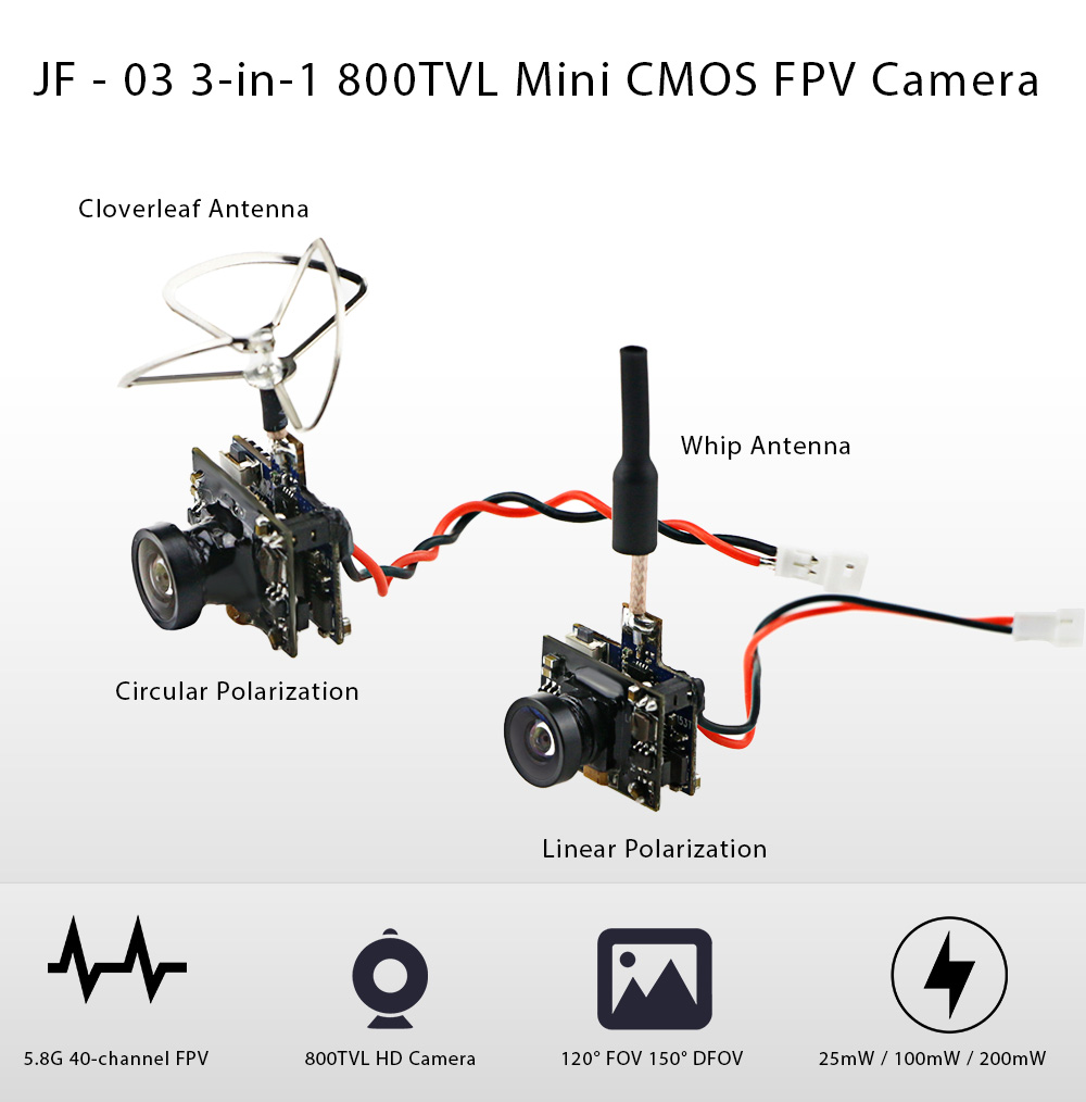 Gearbest Official New Arrivals Continually Update Page 8 Fpv Wiring Diagrams Jf 03 3 In 1 800tvl Mini Cmos Camera With Integrated Antenna 58g 40ch 25mw 100mw 200mw Video Transmitter