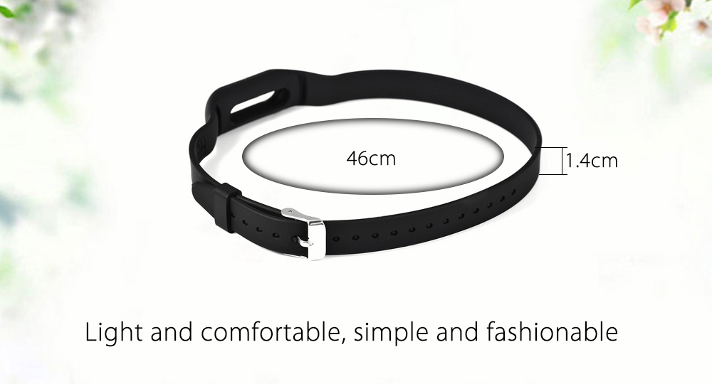 46cm Ultra-long Two-loop Silicone Strap for Xiaomi Miband 2