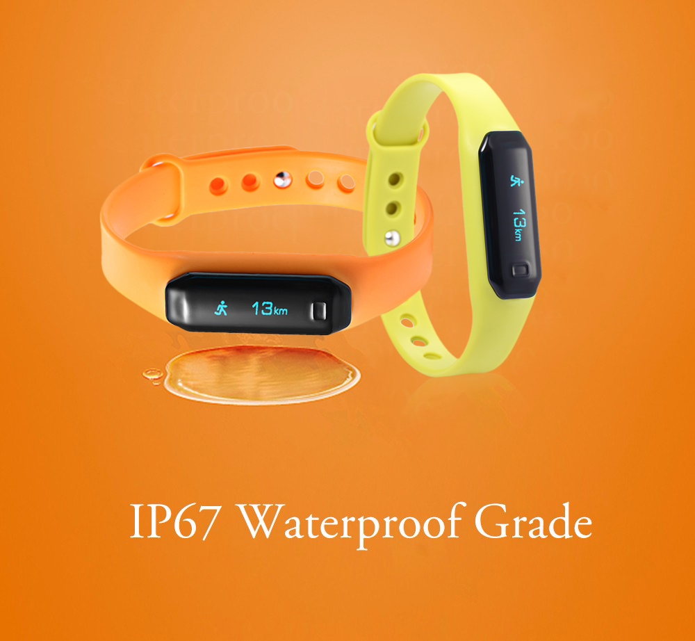 U01 OLED Touch Screen Smart Wristband with Dialog Bluetooth Chip Sleep Monitoring