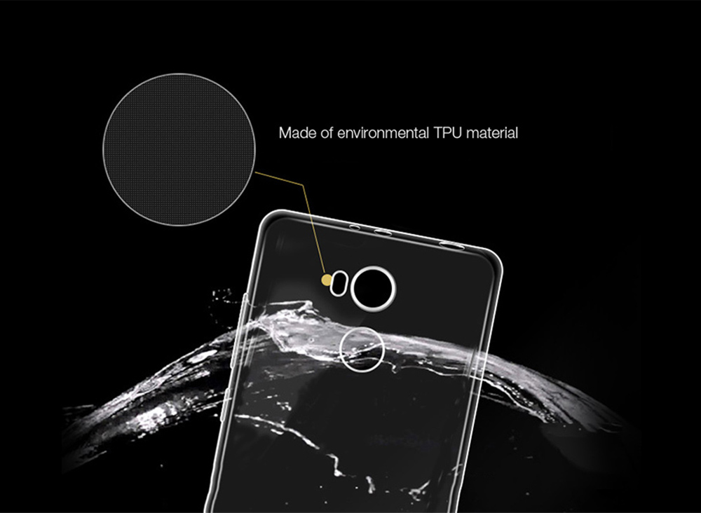 ASLING Transparent TPU Soft Case High Protective Cover Phone Protector for Xiaomi Redmi 4 High Version