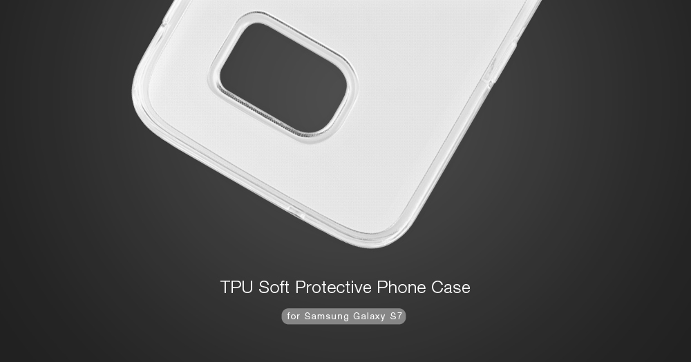 ASLING Protective Back Case for Samsung Galaxy S7 Ultra-thin TPU Material