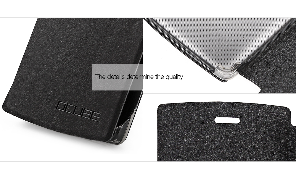 OCUBE PU Leather Full Body Phone Protective Case with Foldable Stand for Doogee X5 Max