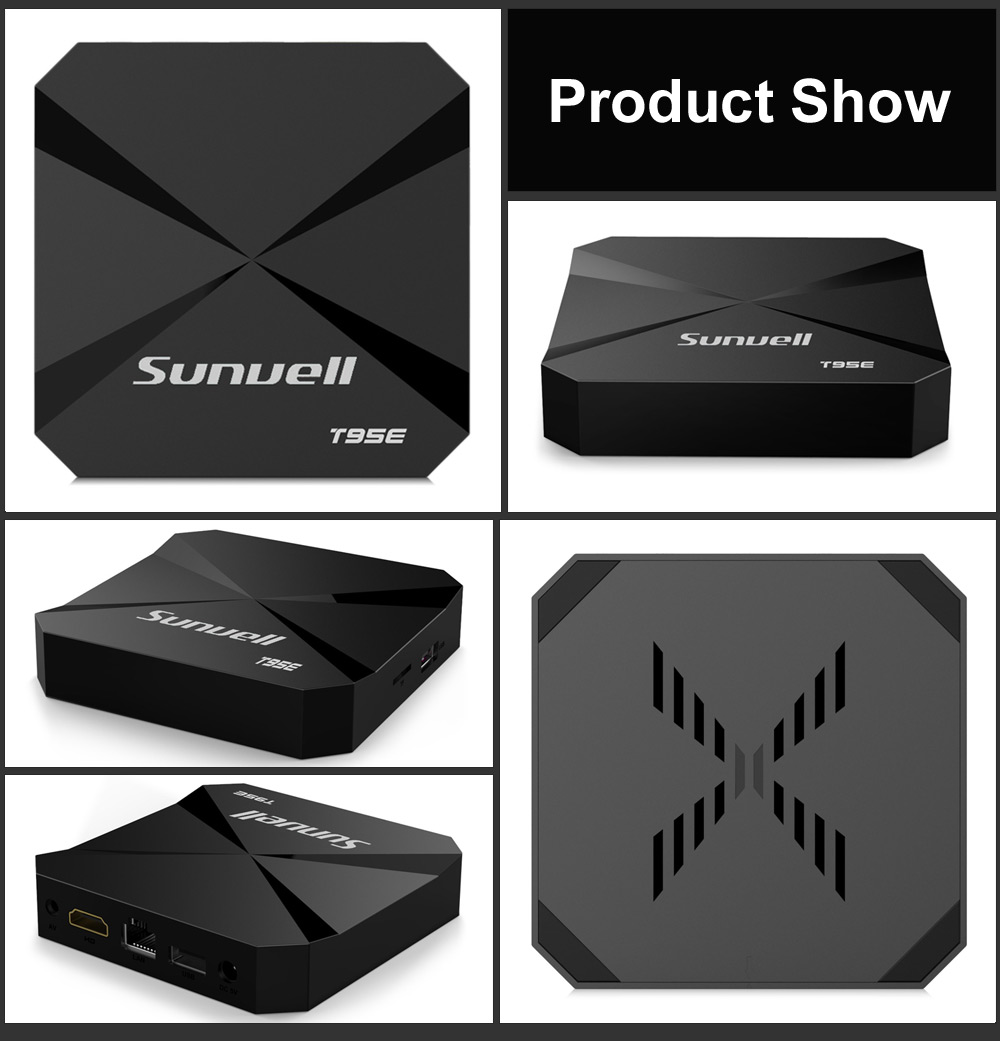 Sunvell T95E TV Box RK3229 4 Core Android 6.0 WiFi 1GB + 8GB