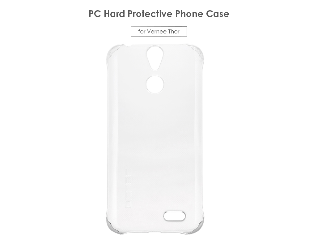 OCUBE Transparent PC Phone Back Case for Vernee Thor Ultra Thin Mobile Protector