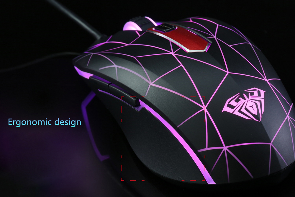 AULA Gaming Wired Mouse with LED Backlit Display