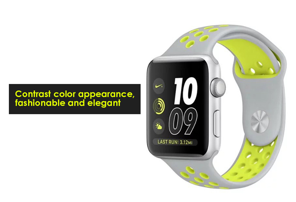 Soft Watch Band Air Holes Replacement Wristband for Apple Watch 42mm