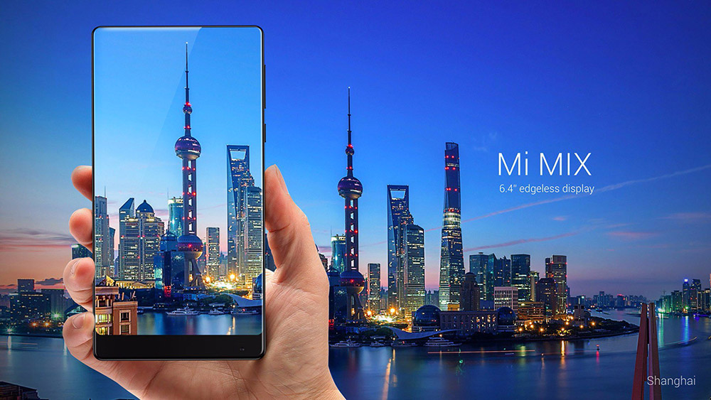 Xiaomi Mi MIX 6.4 inch 4G Phablet MIUI 8 or Above Snapdragon 821 Quad Core 6GB RAM 256GB ROM 5MP + 16MP Cameras NFC UFS 2.0 2040 x 1080 4400mAh Battery
