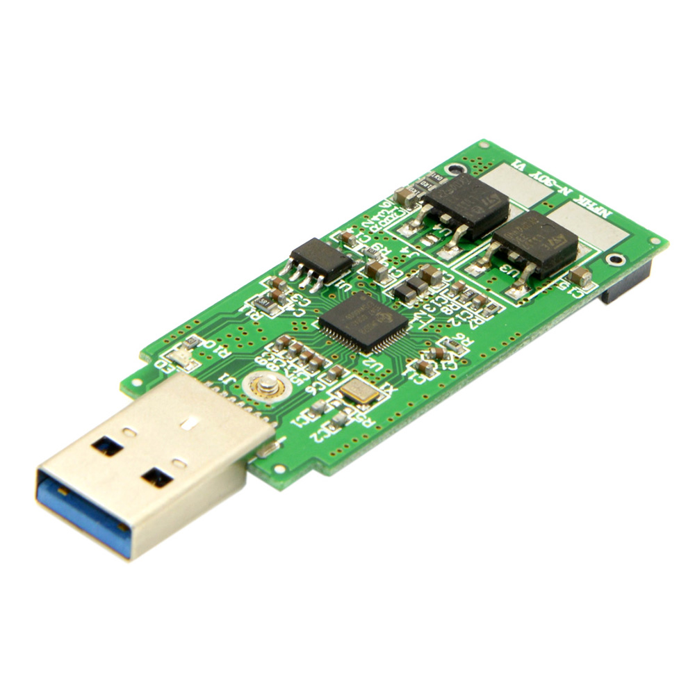U3 - 273 Aluminum Alloy USB 3.0 to 2242 M.2 NGFF Adapter Card Straight Connection
