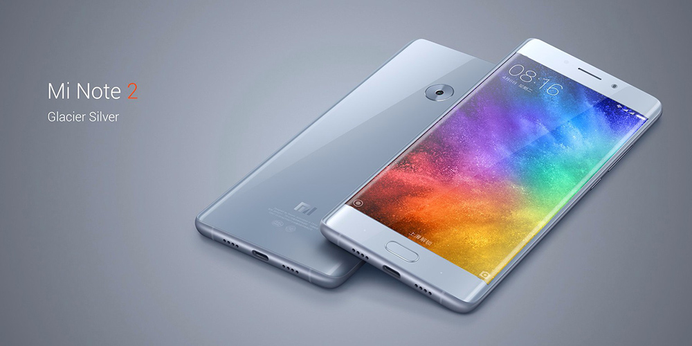 Xiaomi Mi Note 2 Global Version 5.7 inch Arc Screen 4G Phablet MIUI 8 or Above Snapdragon 821 Quad Core 6GB RAM 128GB ROM 22.56MP Rear Camera Type-C Quick Charge 3.0