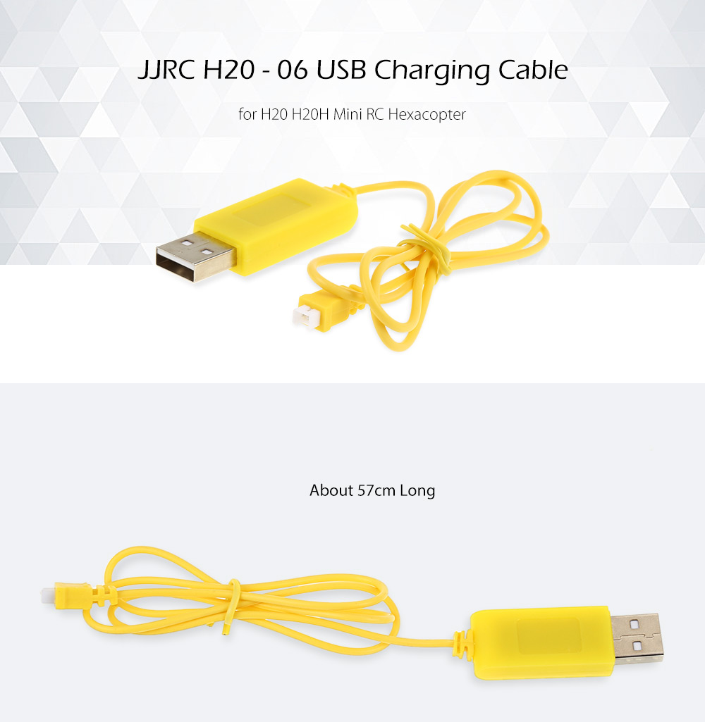 JJRC H20 H20H Mini RC Hexacopter Spare Parts USB Charging Cable H20 - 06
