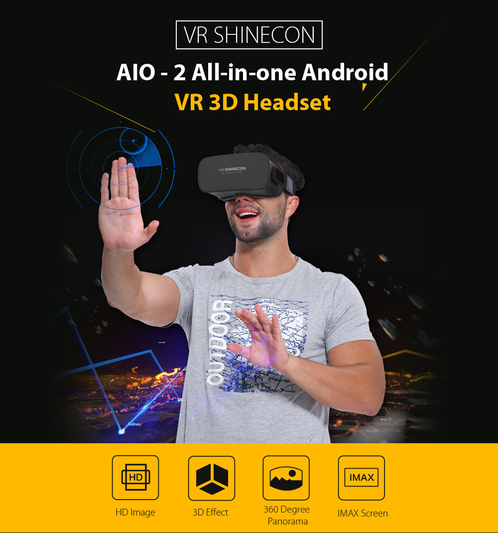 VR SHINECON AIO - 2 5 inch All-in-one Android VR Headset