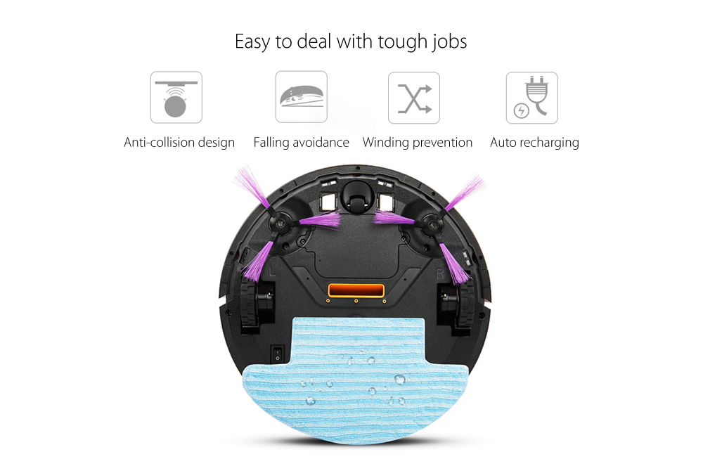 Fmart FM - R330 Smart Robotic Vacuum Cleaner Cordless Sweeping Cleaning Machine Self-recharging Mopping Function