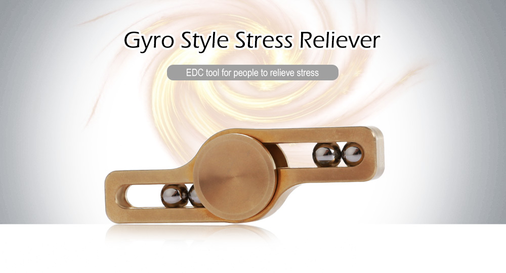 Copper Gyro Style Stress Reliever Pressure Reducing Toy for Office Worker