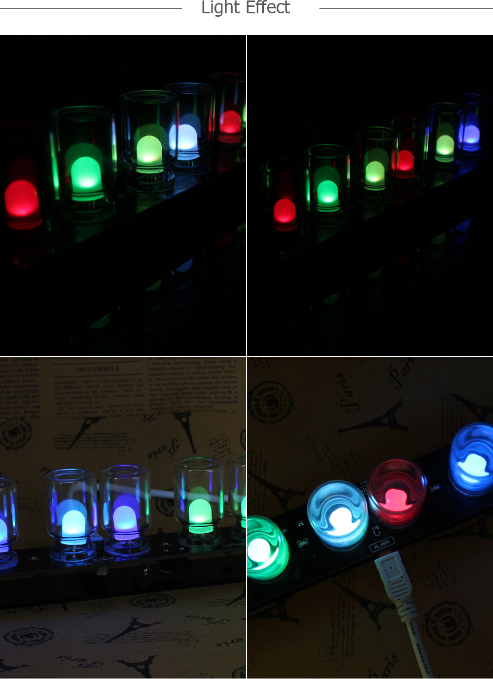 RGB LED Clock Kit for DIY Project