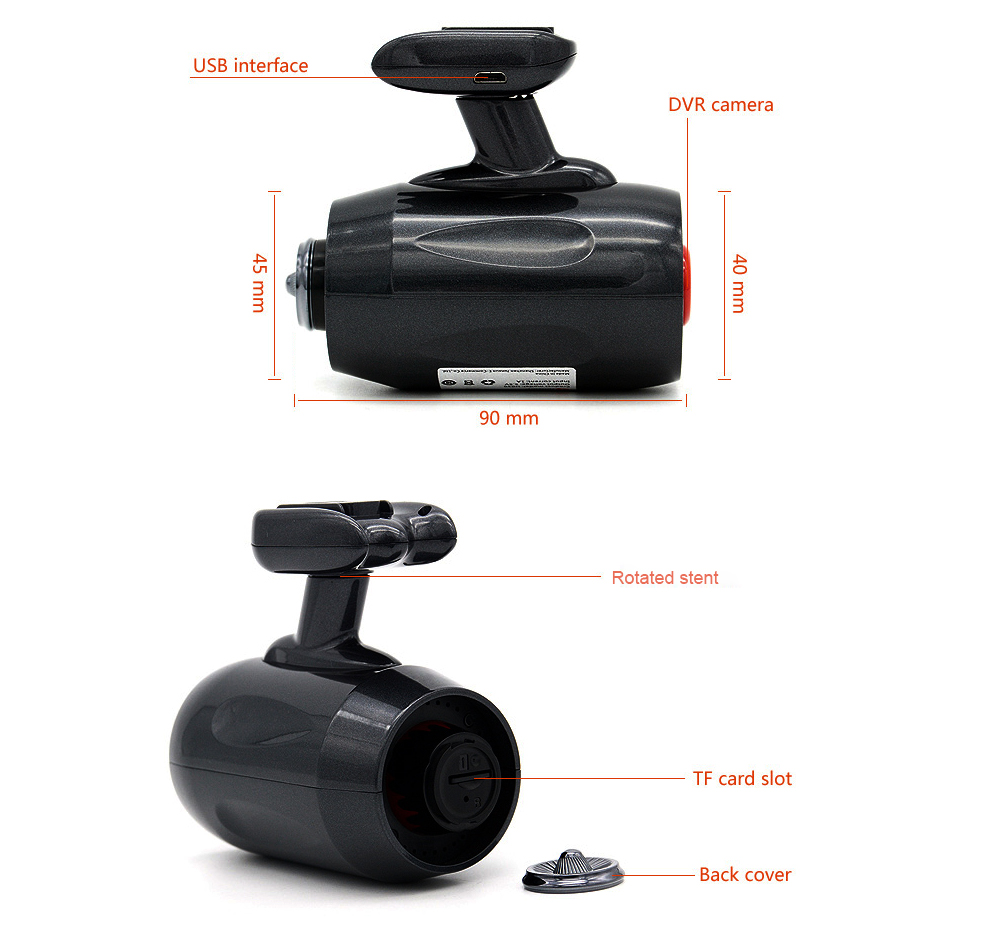 Junsun H030 Car DVR 1296P with 160 Degree Wide Angle